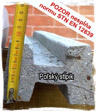 porovnanie betonoveho stĺpika Lukabeton a poľského stĺpika