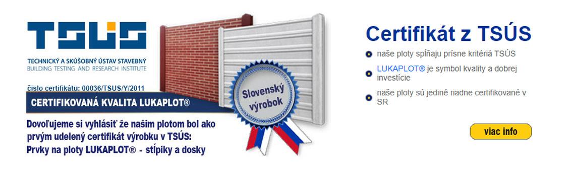 LUKABETON Certifikáty