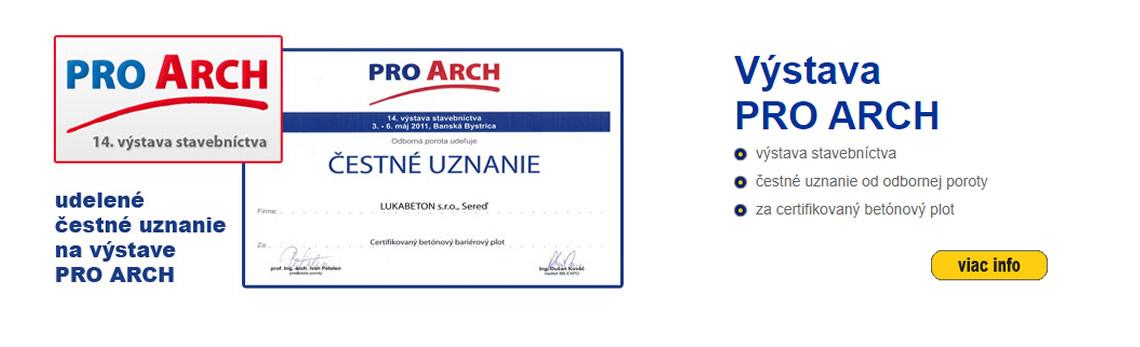 LUKABETON Ocenenenie PRO ARCH